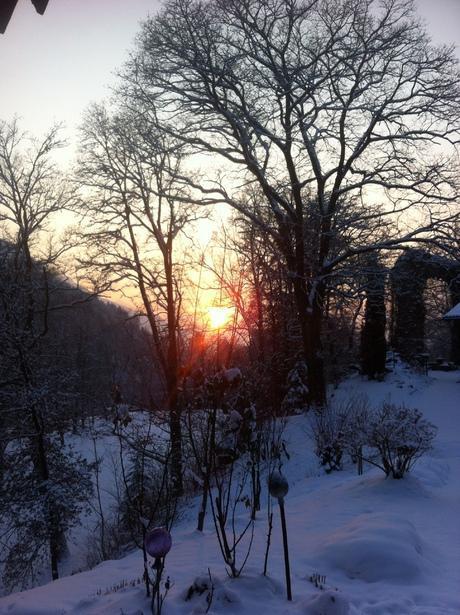 die Wintersonne gegen SW