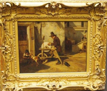 Le Rémouleur (Der Scherenschleifer), Allexandre-Gabriel DECAMPS, 1803-1860, Louvre, Paris