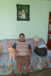 Familienhund in Mexiko, der  an den Vorzügen des Wohlstandes genießt.